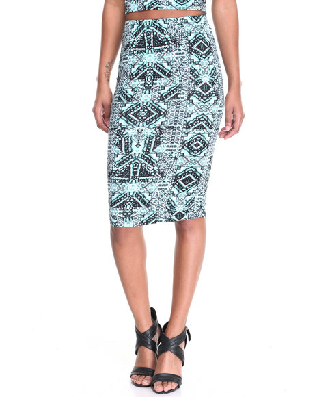 Fashion Lab - Women Multi Midi Skirt
