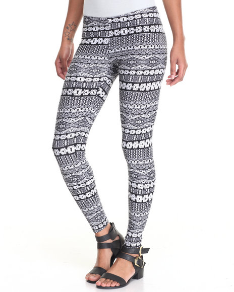 Fashion Lab - Women Multi Printed Peached Leggins