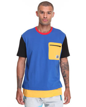 Shirts - Color Block Pocket Tee