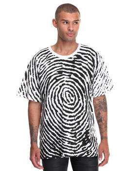 Shirts - Finger Print oversized Tee