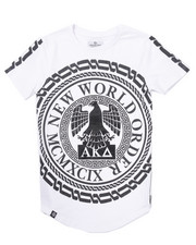 Akademiks - ELONGATED NEW WORLD TEE (8-20)