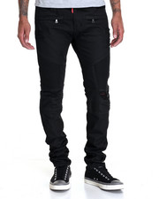 Buyers Picks - Waxed Coated Biker Denim Jeans
