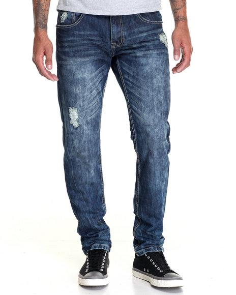 Buyers Picks - Men Vintage Wash Smoke Rise Slim - Straight Denim Jeans