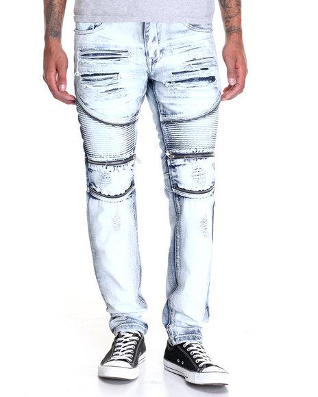 Buyers Picks - Men Dark Wash Heavy Rip - Off Denim Jeans