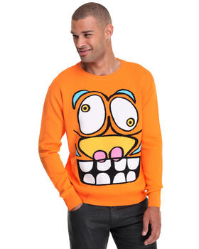 Men - Insane Cartoon Face intarsia sweater