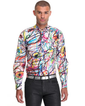 Shirts - Scribble Print Buttondown