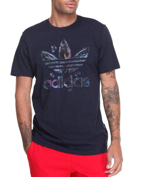 Adidas Men City Lights Running Trefoil SS Tee Black Large
