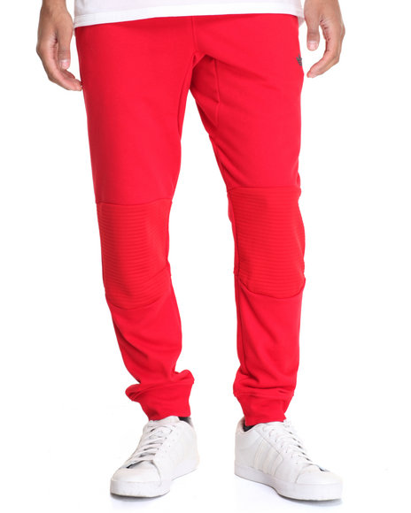 Adidas - Men Red Sport Luxe Moto Jogger Pants