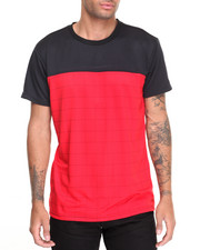 Shirts - Mesh Color Block Tee w Pocket