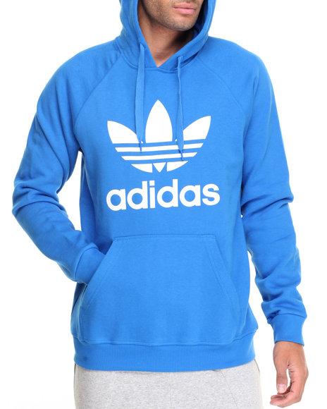 Adidas - Men Blue Originals Trefoil Pullover Hoodie