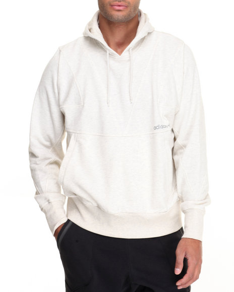 Adidas Men Modern Cutline Pullover Hoodie Cream XXLarge