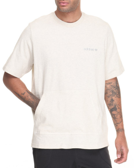 Adidas - Men White Oversized Heavy - Cotton Pocket S/S Tee - $40.00