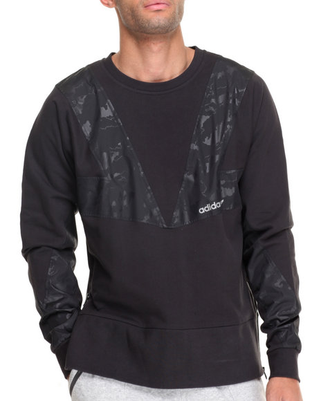 Adidas Men Modern Camo Crewneck Sweatshirt Black XLarge