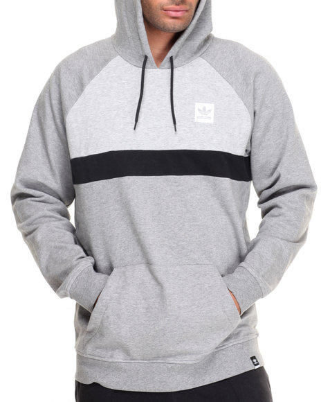 Adidas Men Clima Blackbird Blocked Pullover Hoodie Grey Small