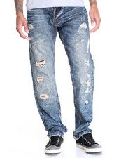 Men - Vintage Rip - And - Repair Denim Jeans