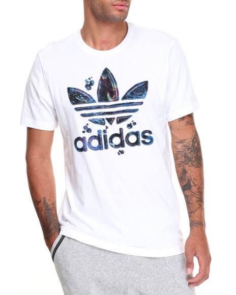 Adidas Men City Lights Running Trefoil SS Tee White Medium