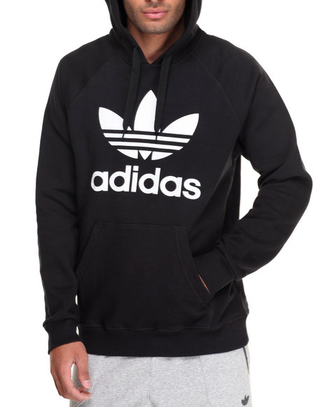 Adidas Men Originals Trefoil Pullover Hoodie Black Large
