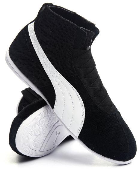 Puma - Women Black Eskiva Mid Textured Sneakers