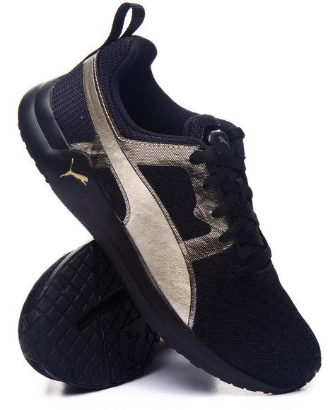 Puma - Women Black Pulse Xt Metallic Sneakers