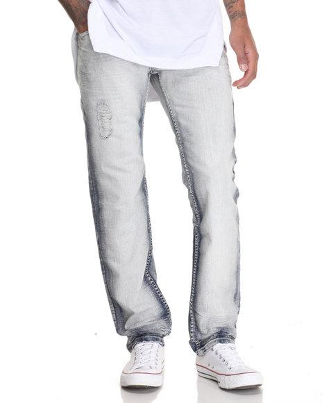 Buyers Picks - Men Light Wash Smoke Rise Slim - Straight Denim Jeans