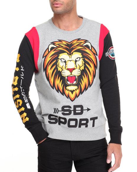 Stall & Dean - Men Grey Nisitetu Lions Crewneck Sweatshirt - $88.00
