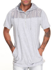 Buyers Picks - S/S Mesh Panel Fishtail Hoodie