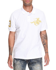 Men - Colt Logo Embo Solid Pique Polo