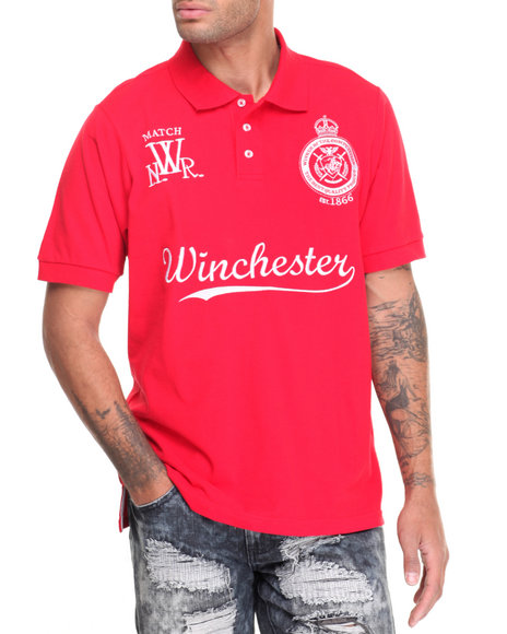 Winchester - Men Red Carver Pique Polo