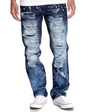 Men - Splatter Ripped Denim Jeans