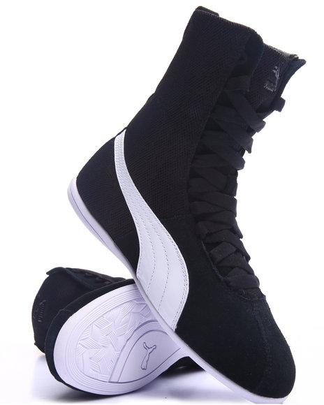 Puma - Women Black Eskiva Hi Textured Sneakers