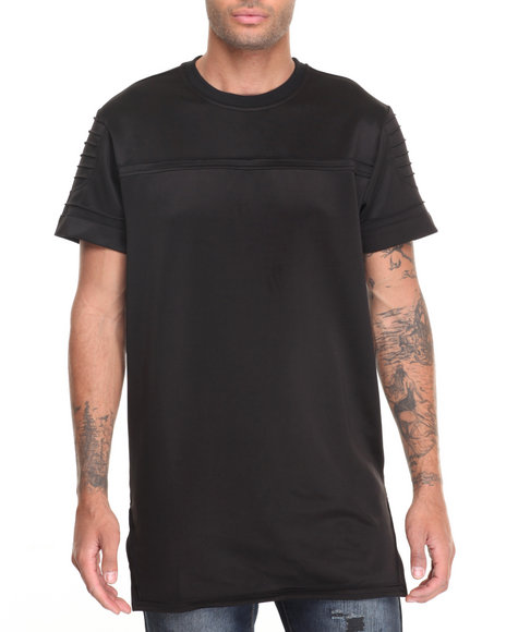 Buyers Picks - Men Black Elongated Neoprene Tee