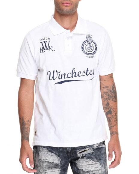 Winchester - Men White Carver Pique Polo