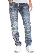 Men - Acid Dark Rip - And - Repair Denim Jeans