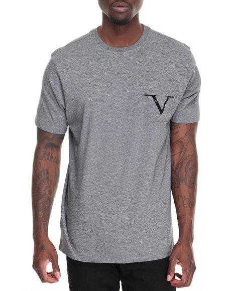Versace 19.69 - Men Charcoal Core Crew Pocket T-Shirt