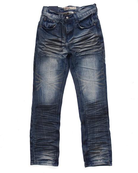 Arcade Styles - Boys Vintage Wash Crinkle Wash Premium Jeans (8-20)