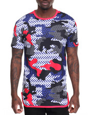 Buyers Picks - Geometric Camo Tee- Navy