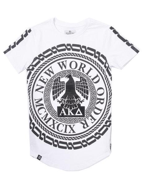 Akademiks - Boys White Elongated New World Tee (4-7)