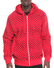 Basic Essentials - Stars Fleece Printed Full Zip Hoodie