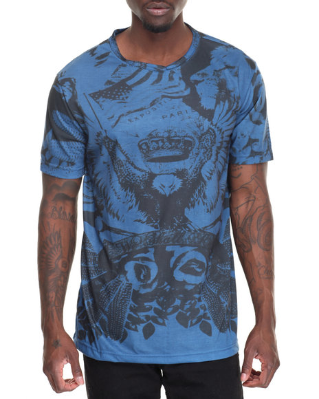 Waimea - Men Blue Tribal Sublimated Tee