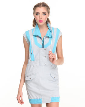 Casual - COLORBLOCK DENIM DRESS