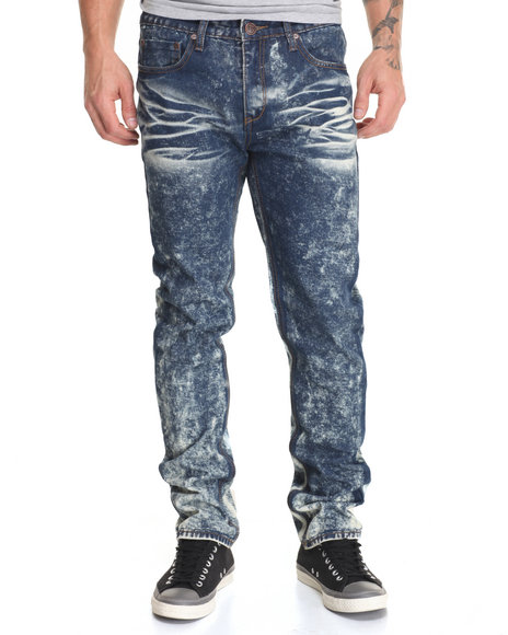Waimea - Men Acid Wash Ripped & Repaired Cement Wash Jean