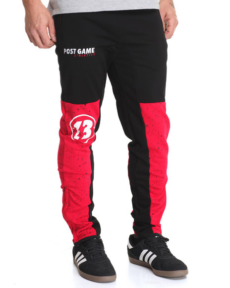 Post Game - Men Black Game Fleece Joggers - $95.00
