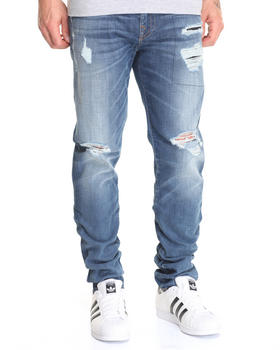 True Religion - Rip and Worn Geno w/ Flap Jean