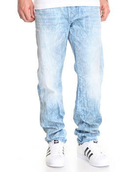 True Religion - City Streets Bleached Geno w/ Flap Jean