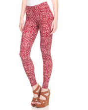 Women - Printed Peached Legging