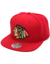 Mitchell & Ness - Chicago Blackhawks Wool Solid Snapback Cap