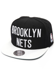 Mitchell & Ness - Brooklyn Nets XL Logo 2 Tone Snapback Cap