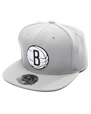 Men - Brooklyn Nets Team Solid High Crown Fitted Cap