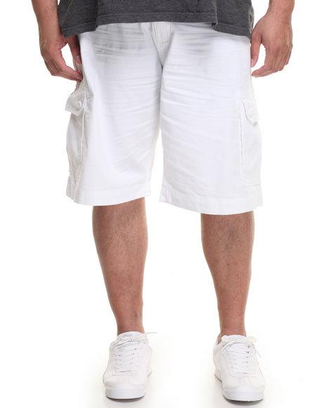 Ecko Men Belted Twill Cargo Short (B&T) White 48