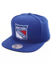 Mitchell & Ness - New York Rangers Solid Wool Snapback Cap